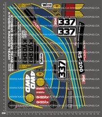 1/10TH KYOSHO - FORD RS-200 DECALS