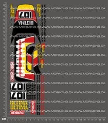 1/10TH KYOSHO - ULTIMA TYPE 2 DECALS