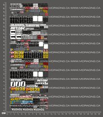 1/28TH ASSOCIATED - RC10T DECAL SHEET