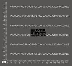 540 MOTOR DECAL - DYNA RUN RACING STOCK MOTOR - BLACK