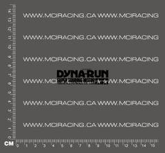 540 MOTOR DECAL - DYNA RUN SUPER TOURING MOTOR - BLACK