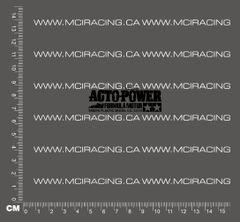 540 MOTOR DECAL - ACTO-POWER FORMULA MOTOR - BLACK