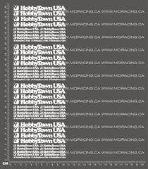 1/10TH HOBBY TOWN DECALS - WHITE