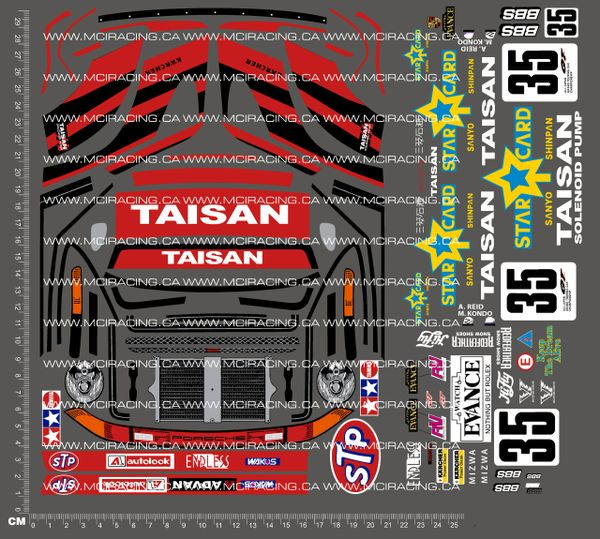 1/10TH TAM 58172 - TAISAN STARCARD PORSCHE 911 GT2 DECALS
