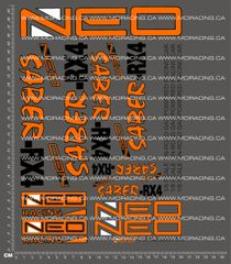 1/8TH NEO RACING - SABER-RX4 V1 DECALS