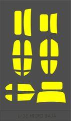 1/36 MICRO BAJA BUG / MICRO T DESERT DT BAJA / TYPE 2 MICRO T DESERT DT BAJA - WINDOW MASKS