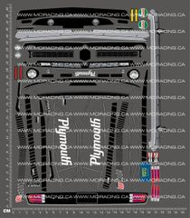 1/10TH HPI - TRANS AM - 1970 PLYMOUTH AAR CUDA DECALS