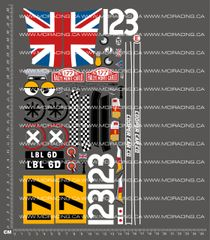 1/10TH TAM 53213 - MINI COOPER RACING STICKER SET DECALS