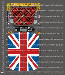 1/10TH TAM 53221 - MINI COOPER RACING STICKER SET 2 DECALS
