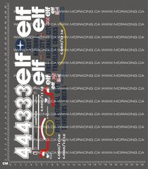 1/10TH TAM 58003 - TYRRELL P34 SIX WHEELER DECALS