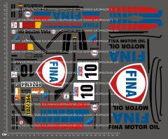 1/10TH BMW - FINA DECALS