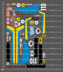 1/10TH TAM 58023 - HOLIDAY BUGGY DECALS