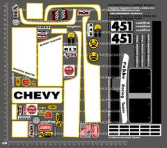 1/10TH KYOSHO - CHEVROLET PICK-UP 4X4 DECALS
