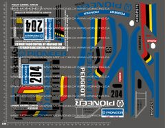 1/10TH KYOSHO - PEUGEOT 405 DECALS