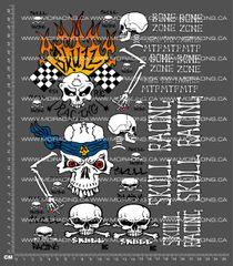 SKULL RACING - V2 DECALS - MIKE THE PAINTER