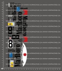 1/10TH PORSCHE - 962 MARLBORO DECALS