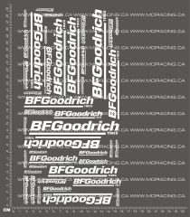 1/10TH BF GOODRICH DECALS