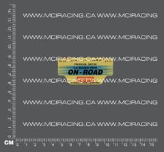 540 MOTOR DECAL - LE MANS PRO - ON ROAD