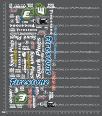 1/10TH MONSTER TRUCK - SPARK PLUGS DECALS
