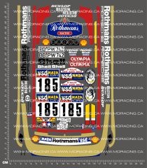 1/12TH TAM 58059 - PORSCHE 959 #185 DECALS