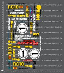 1/10TH ASSOCIATED - RC10 B2 MATT FRANCIS DECALS