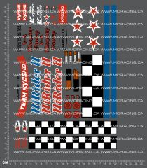 1/10TH KYOSHO - HI RIDER CORVETTE 2 DECALS