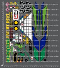 1/10TH ARISTO-CRAFT HITEC KANGAROO DECALS