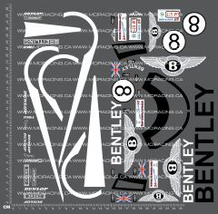 1/10TH BENTLEY - SPEED 8 DECALS