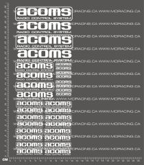 1/10TH ACOMS DECALS