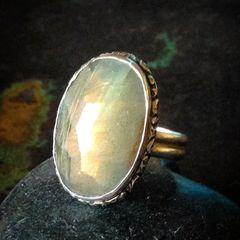 Silver Labradorite Ring