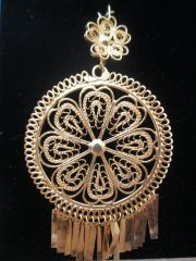 Large earrings- Round/ Daisy