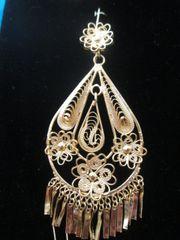 Large earrings- Drop/Three Flowers