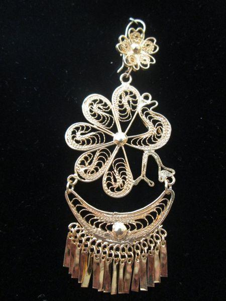 Large earrings- Peacock