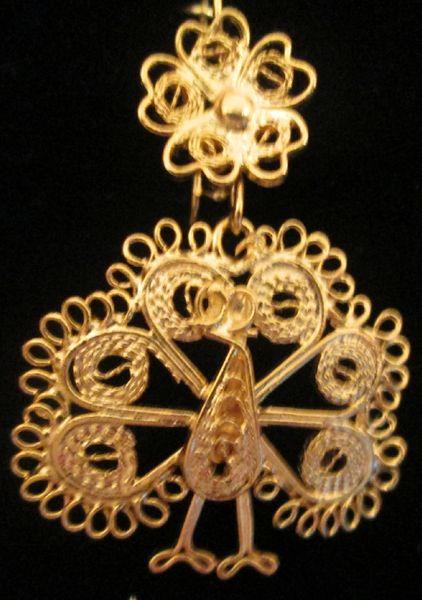 Small earrings- Peacock