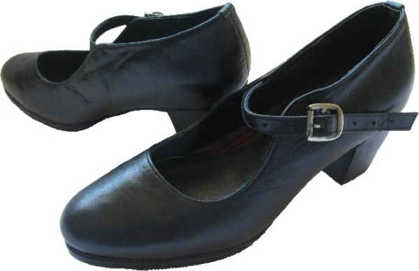 Women Dance Folkloric Shoes - Black