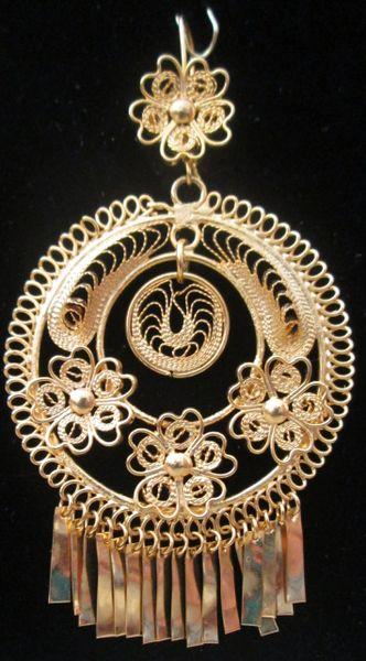 Large earrings- Round/Three Flowers