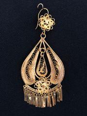 Large earrings- Drop/ 1 Flower