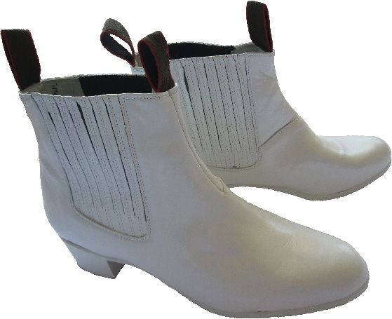 Men's Dance Folkloric Shoes - White