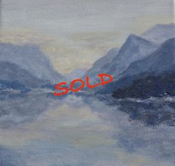 Snowdonia, mountains, lake, original art, Llyn Padarn, Wales, Aniela Jones, artist, Aniela Designs