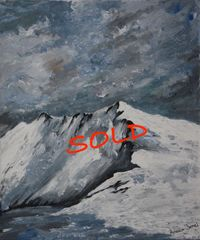 Snowdonia, snow, mountains, winter, original art, Wales, Aniela Jones, artist, Aniela Designs