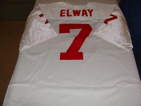 buy online 87265 46217 #7 JOHN ELWAY Stanford Cardinal NCAA QB White Throwback Jersey