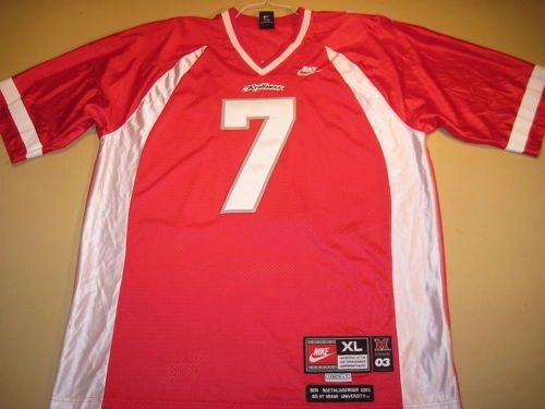 new product 4c54e f1113 #7 BEN ROETHLISBERGER Miami Ohio Redhawks NCAA QB Red Throwback Jersey