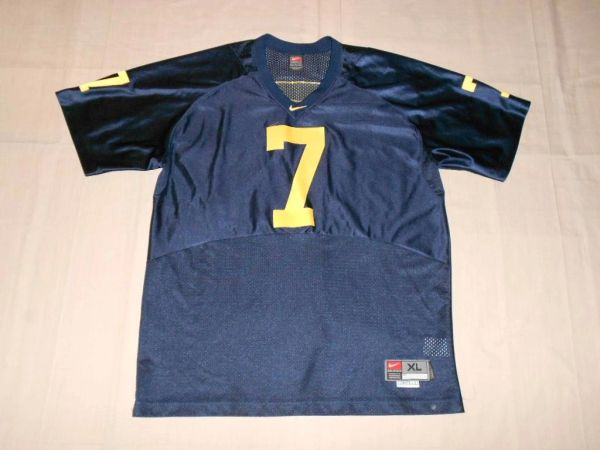 new concept 54ccb be6ce #7 HENSON/HENNE Michigan Wolverines NCAA Football Blue Throwback Jersey