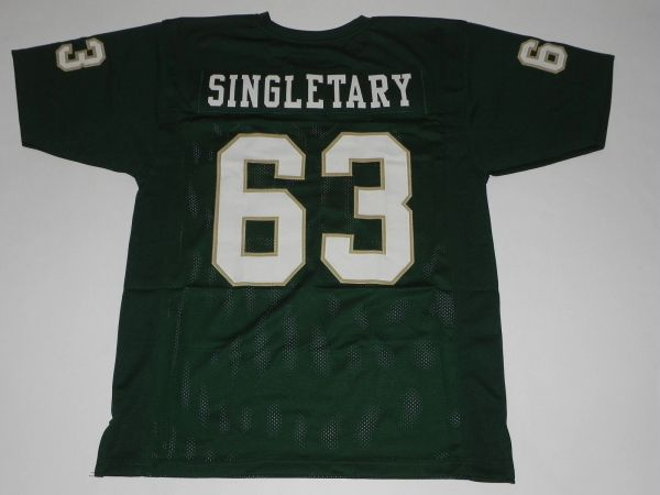 #63 MIKE SINGLETARY Baylor Bears NCAA LB Green Throwback Jersey