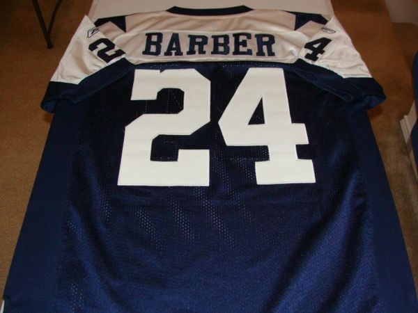 check out 1e541 2729c #24 MARION BARBER III Dallas Cowboys NFL RB Blue TG Throwback Jersey