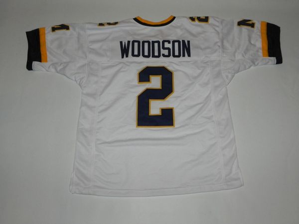 #2 CHARLES WOODSON Michigan Wolverines NCAA CB/PR White Throwback Jersey