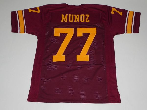 #77 ANTHONY MUNOZ USC Trojans NCAA OT Red Throwback Jersey