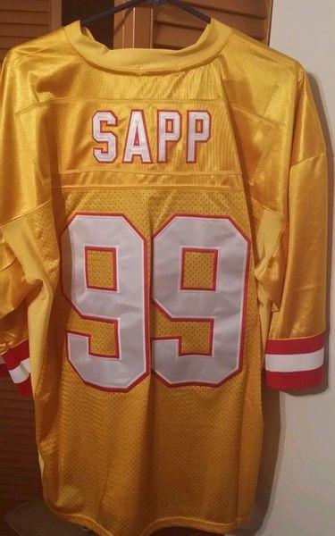 reputable site da974 1d159 #99 WARREN SAPP Tampa Bay Buccaneers NFL DT Creamsicle Throwback Jersey