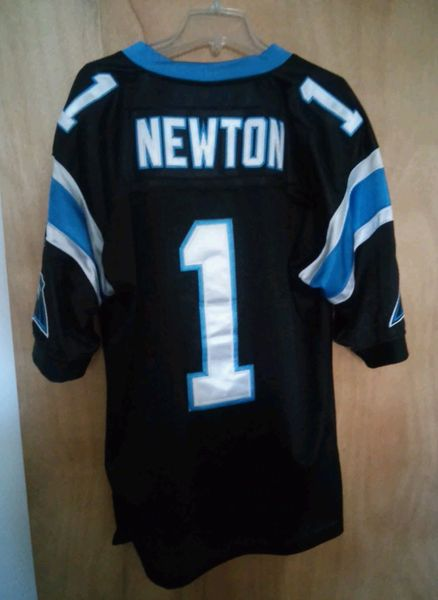 best website 5e140 086f0 #1 CAM NEWTON Carolina Panthers NFL QB Black Throwback Jersey