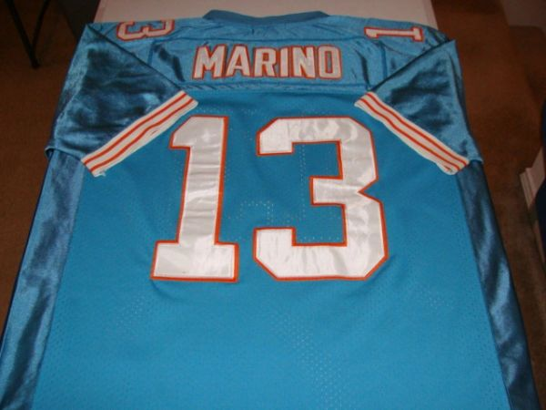 premium selection 2e678 cd415 #13 DAN MARINO Miami Dolphins NFL QB Green Throwback Jersey